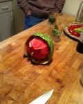 Melon Man in David's Küche