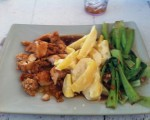 Lemon Chicken mit Kartoffeln und Asian Greens