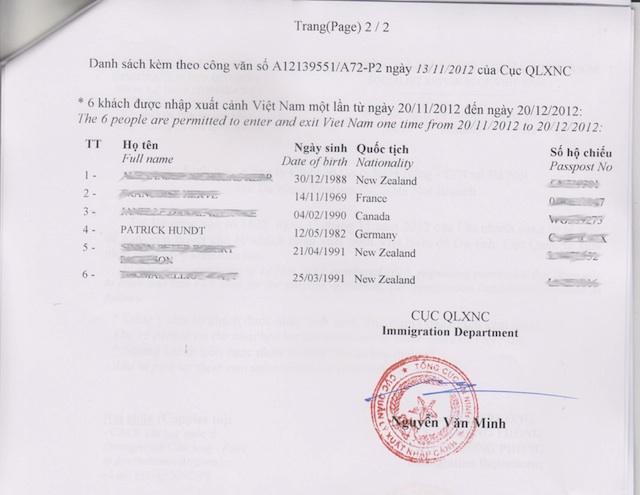 wie du ein visum für vietnam bekommst - 101places.de, Einladung