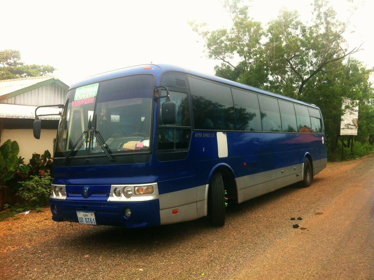 Fernbus in Laos