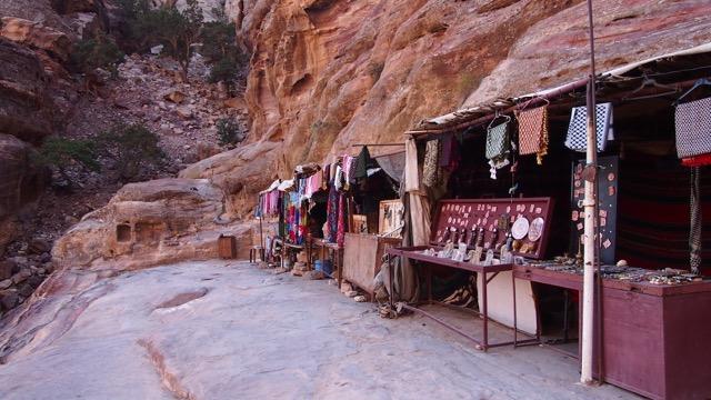 Souvenirshops in Petra