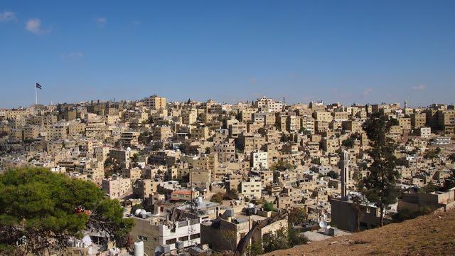Ausblick auf Amman Jordanien