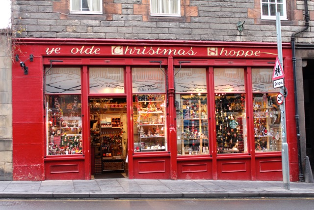 Ye Olde Christmas Shoppe in Edinburgh