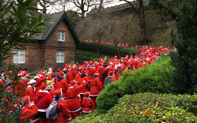Santa Run in Edinburgh