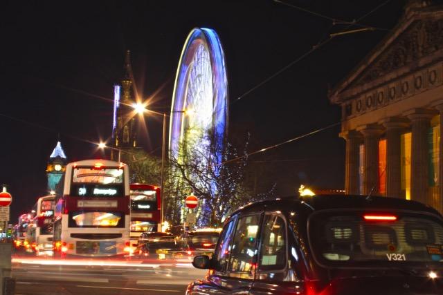 Big Wheel auf Edinburgh Weihnachtsmarkt