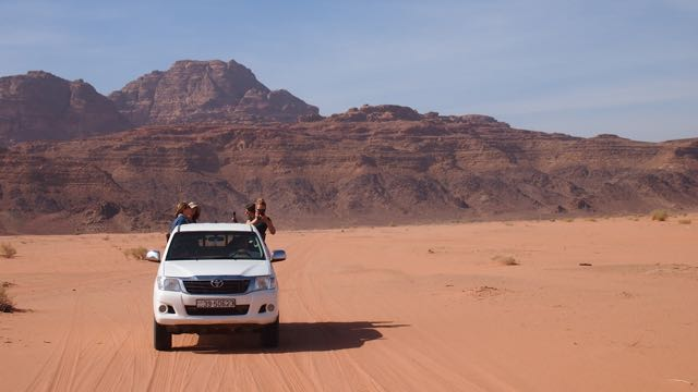 Jeep in Wadi Rum