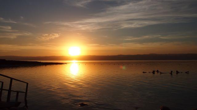 Sonnenuntergang am Toten Meer
