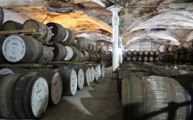 Whisky Lager in der Deanston Brennerei