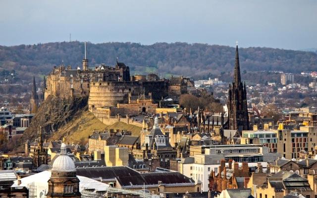 Edinburgh Castle - Blick von obene