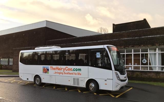 Hairycoo Bus Schottland