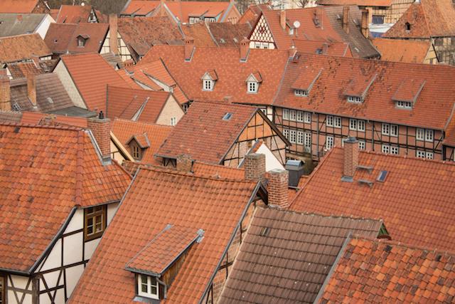 Die Dächer Quedlinburgs