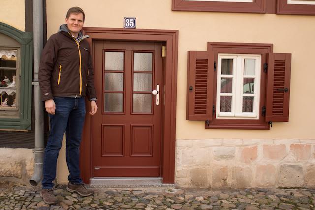Kleine Türen in Fachwerkhäusern
