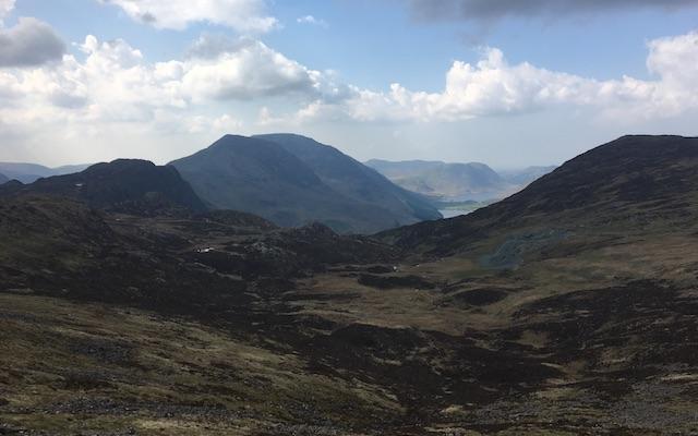 Gebirge auf dem C2C Walk