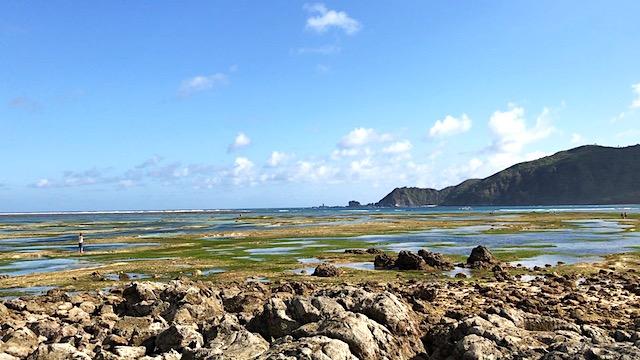 Der Pantai Kuta bei Ebbe