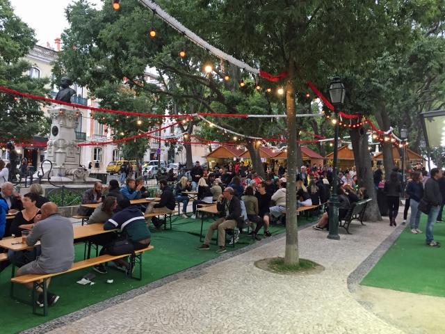 Sommermarkt Lissabon